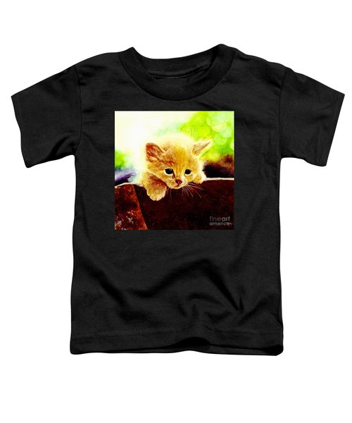 Yellow Kitten Toddler T-Shirt