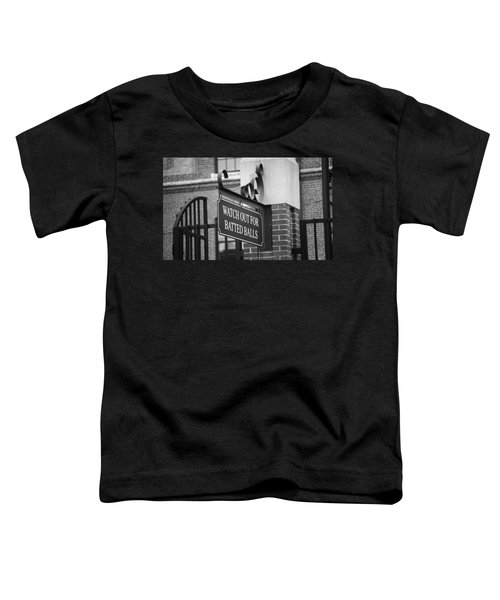 Baseball Warning Toddler T-Shirt by Frank Romeo