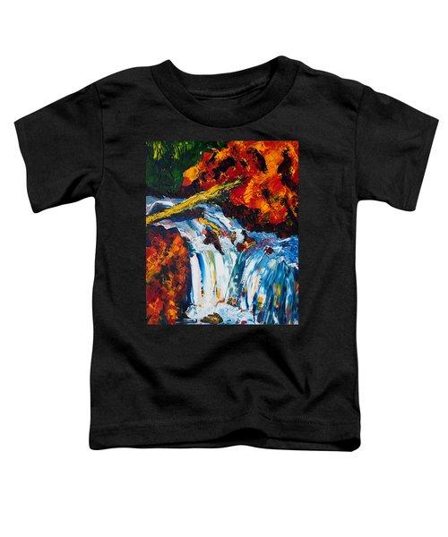 Log And Waterfall Toddler T-Shirt