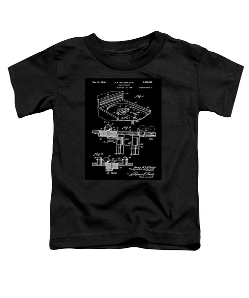 Pinball Machine Patent 1939 - Black Toddler T-Shirt by Stephen Younts