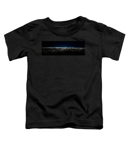 Aerial View Of A City Lit Up At Night Toddler T-Shirt