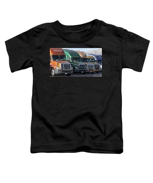 Semi Truck Fleet Toddler T-Shirt