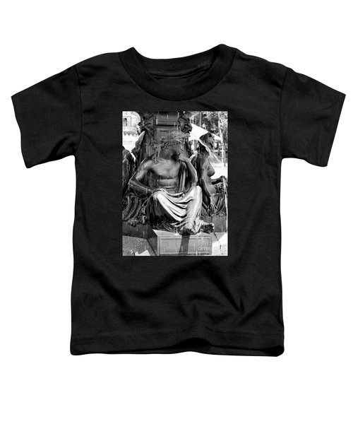 Brewer Fountain Boston Ma Black And White Toddler T-Shirt