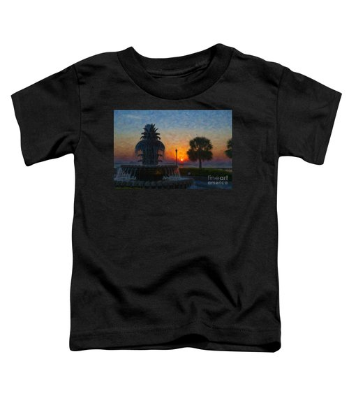 Pineapple Fountain At Dawn Toddler T-Shirt