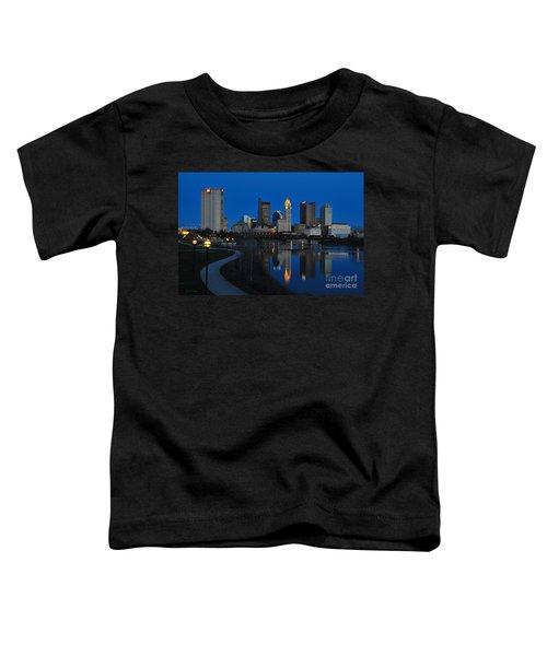 Columbus Ohio Skyline At Night Toddler T-Shirt