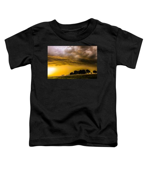 Late Afternoon Nebraska Thunderstorms Toddler T-Shirt