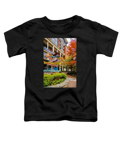 Charlotte City Skyline Autumn Season Toddler T-Shirt