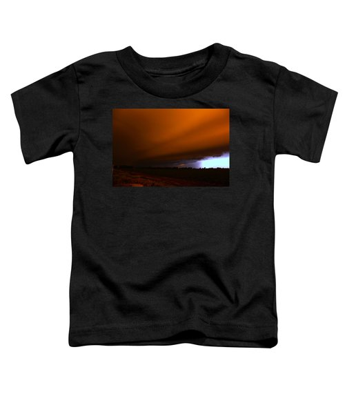 Late Night Nebraska Shelf Cloud Toddler T-Shirt