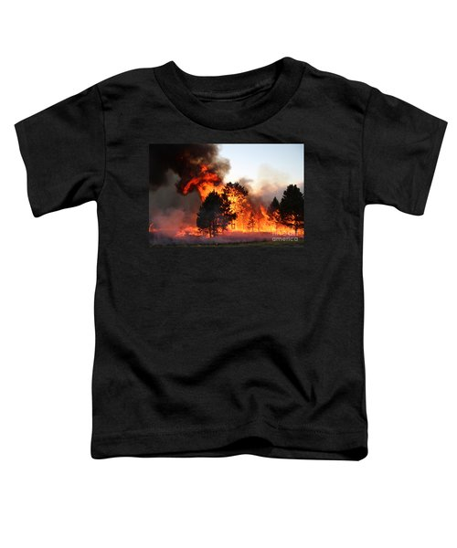 A Burst Of Flames From The White Draw Fire Toddler T-Shirt