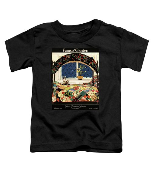 A House And Garden Cover Of A Four-poster Bed Toddler T-Shirt