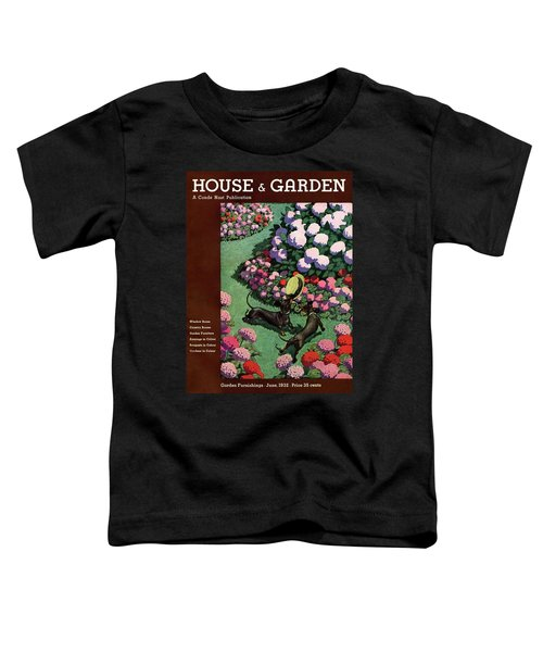 A House And Garden Cover Of Dachshunds With A Hat Toddler T-Shirt
