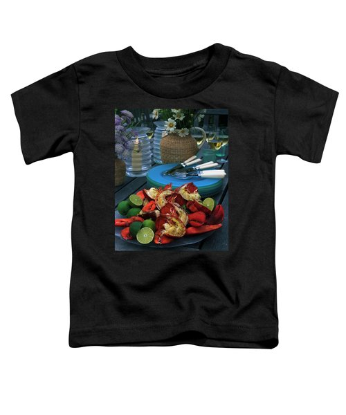 A Meal With Lobster And Limes Toddler T-Shirt