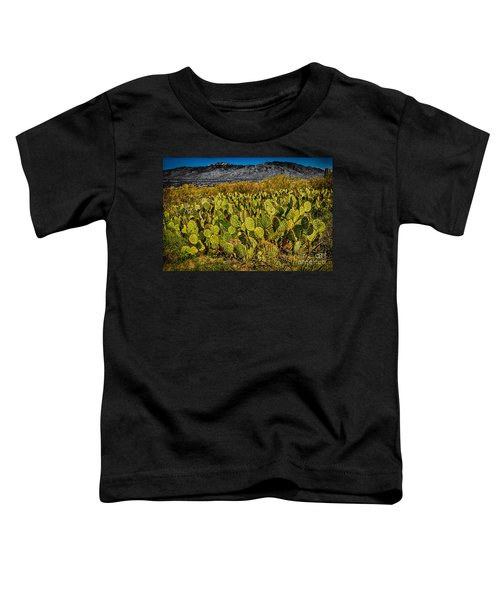 Toddler T-Shirt featuring the photograph A Prickly Pear View by Mark Myhaver