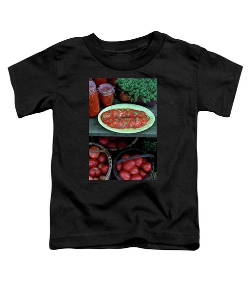 A Wine & Food Cover Of Tomatoes Toddler T-Shirt