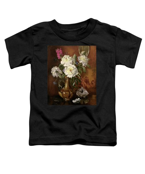 White Peonies In A Glazed Victorian Vase Toddler T-Shirt