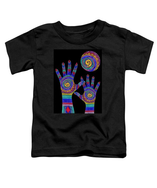 Aboriginal Hands To The Sun Toddler T-Shirt