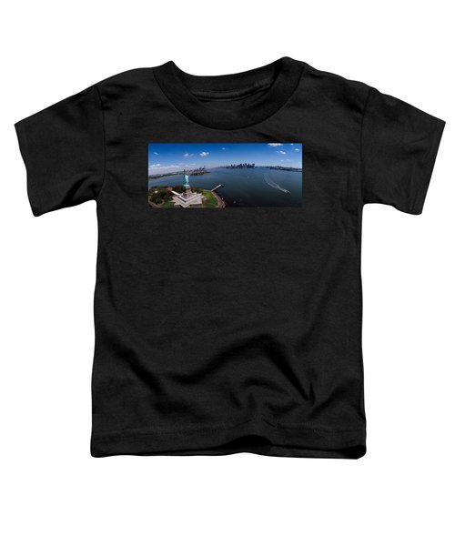 Aerial View Of A Statue, Statue Toddler T-Shirt