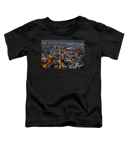 Aerial View Of New York City At Night Toddler T-Shirt