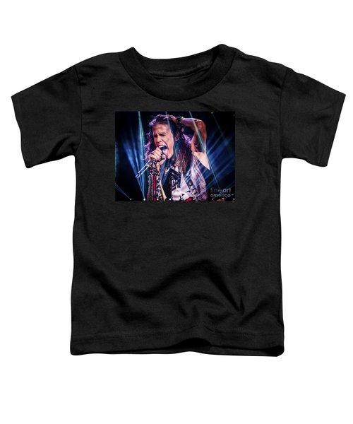 Aerosmith Steven Tyler Singing In Concert Toddler T-Shirt by Jani Bryson