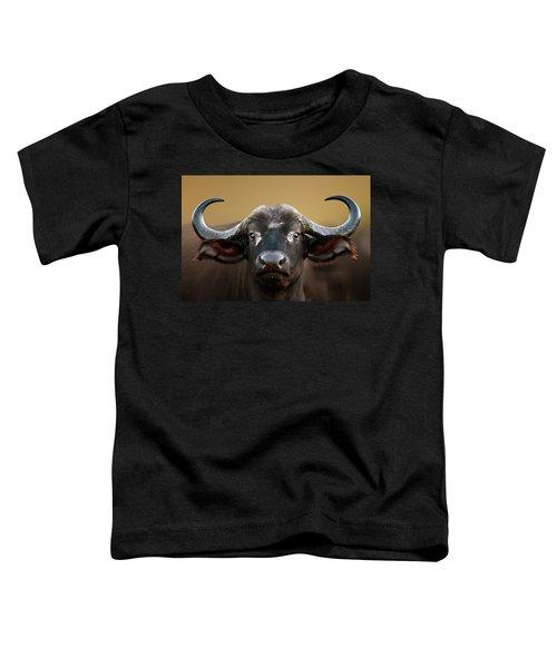 African Buffalo Cow Portrait Toddler T-Shirt