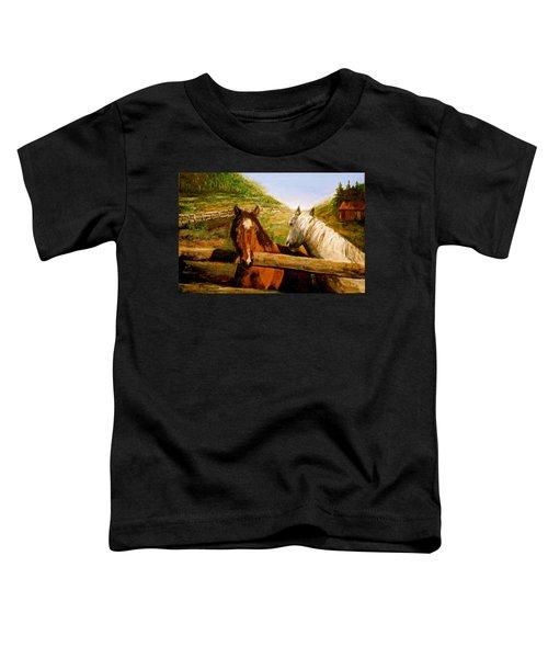 Alberta Horse Farm Toddler T-Shirt