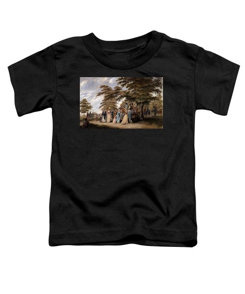An Airing In Hyde Park, 1796 Toddler T-Shirt by Edward Days