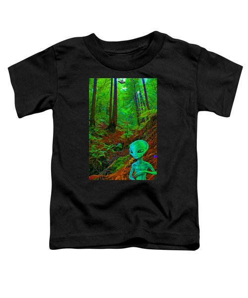 An Alien In A Cosmic Forest Of Time Toddler T-Shirt