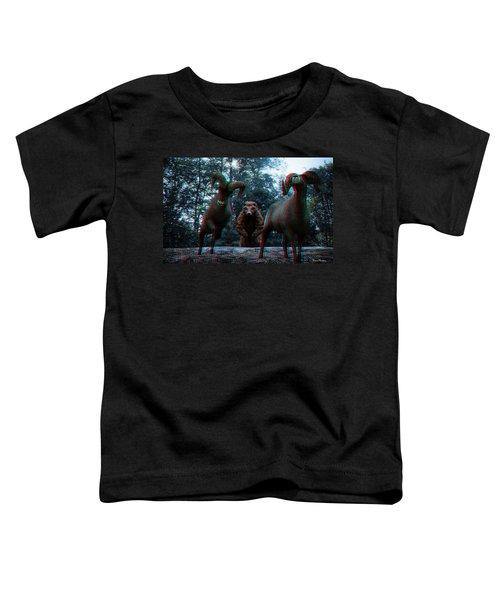 Anaglyph Wild Animals Toddler T-Shirt