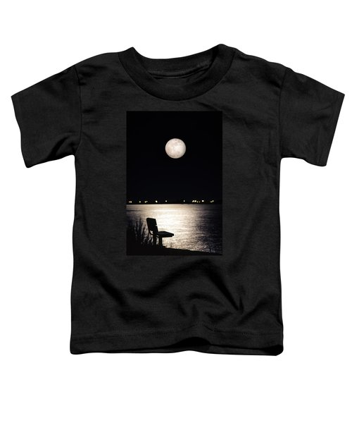 And No One Was There - To See The Full Moon Over The Bay Toddler T-Shirt