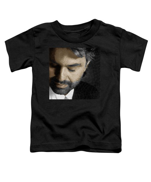 Andrea Bocelli And Square Toddler T-Shirt