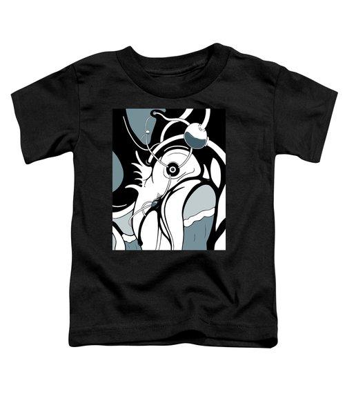Aqua Grid Toddler T-Shirt