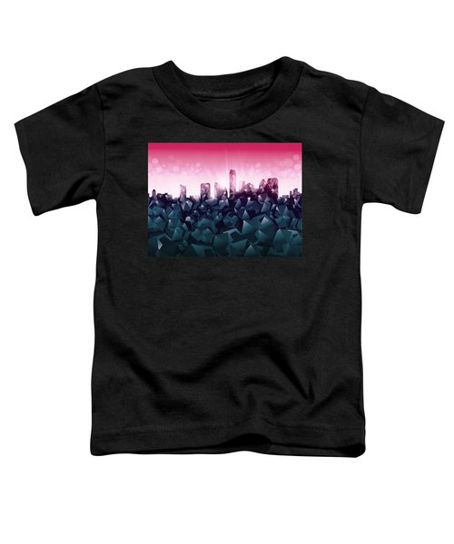 Austin Skyline Geometry 2 Toddler T-Shirt by Bekim Art