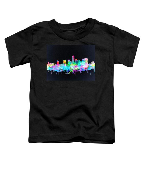 Austin Texas Skyline Watercolor 3 Toddler T-Shirt