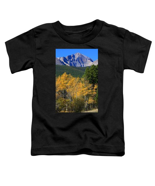 Autumn Aspens And Longs Peak Toddler T-Shirt by James BO  Insogna
