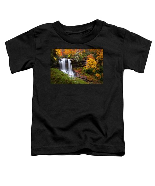 Autumn At Dry Falls - Highlands Nc Waterfalls Toddler T-Shirt