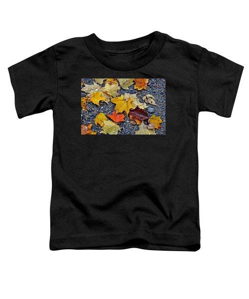 Autumn Leaves In Rain Toddler T-Shirt