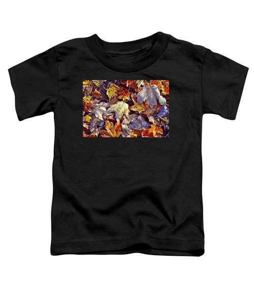 Autumn Leaves With Frost Toddler T-Shirt