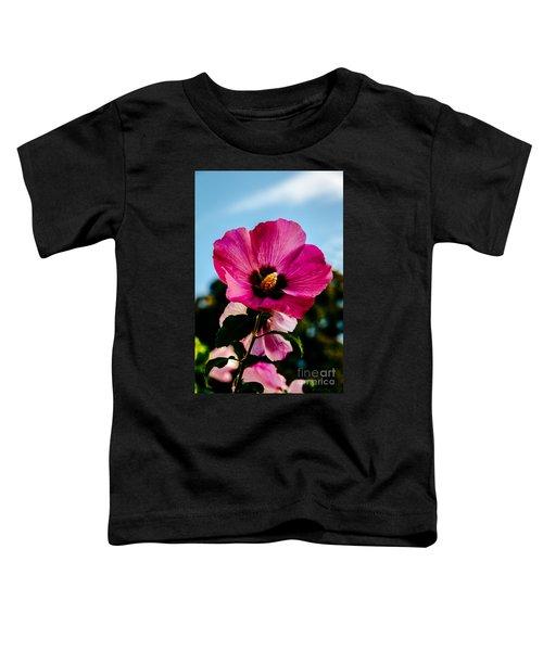 Baby Pink Hollyhock Toddler T-Shirt