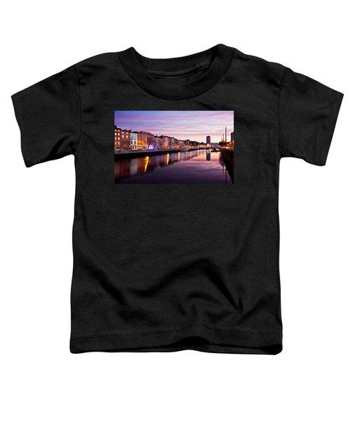 Bachelors Walk And River Liffey At Dawn - Dublin Toddler T-Shirt
