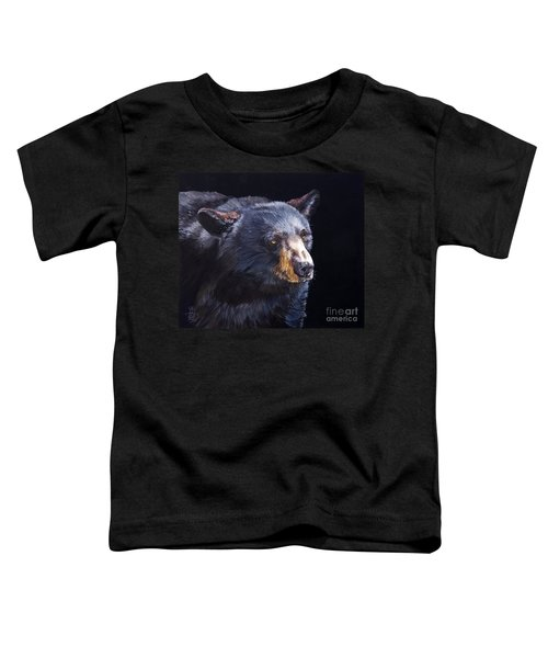 Back In Black Bear Toddler T-Shirt