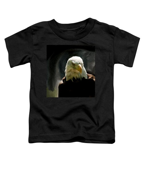 Bald Eagle Giving You That Eye Toddler T-Shirt