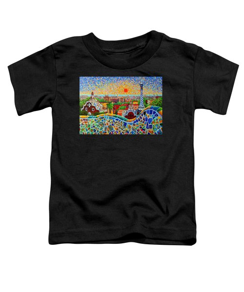 Barcelona View At Sunrise - Park Guell  Of Gaudi Toddler T-Shirt