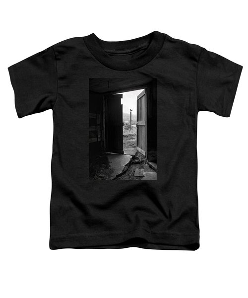 Barn Door - View From Within - Old Barn Picture Toddler T-Shirt