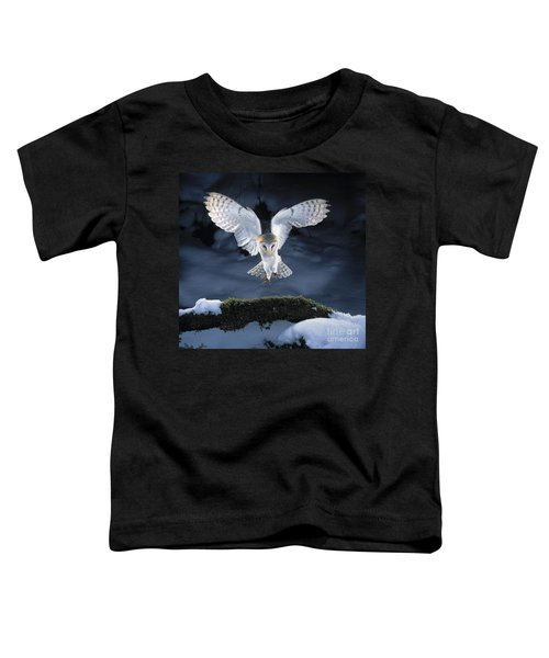 Barn Owl Landing Toddler T-Shirt