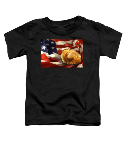 Baseball Toddler T-Shirt by Les Cunliffe