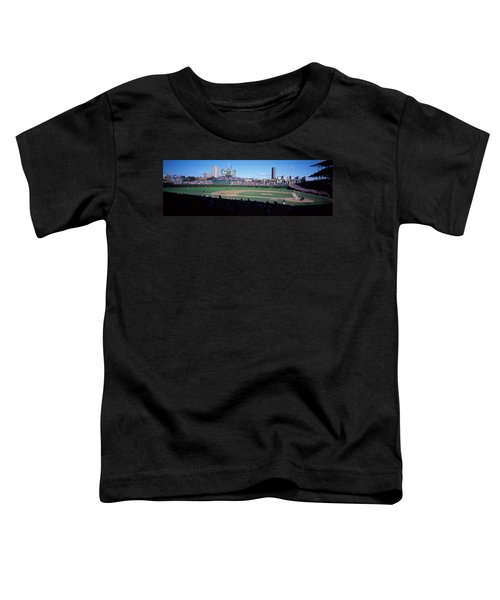 Baseball Match In Progress, Wrigley Toddler T-Shirt by Panoramic Images