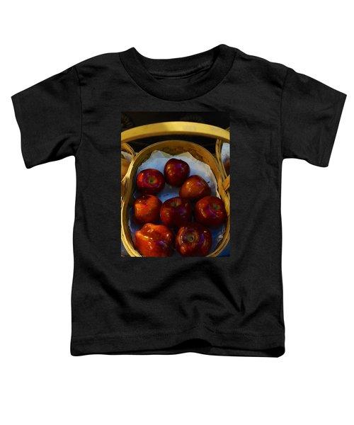 Basket Of Red Apples Toddler T-Shirt