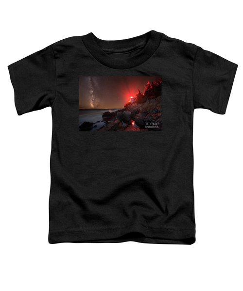 Bass Harbor Lighthouse Milky Way Toddler T-Shirt