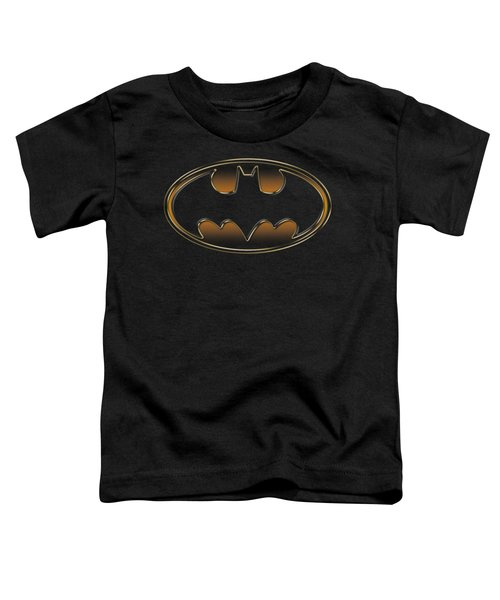 Batman - Black And Gold Embossed Shield Toddler T-Shirt