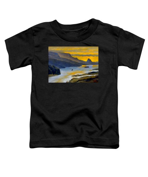 Beacon Rock From Oregon Side Toddler T-Shirt